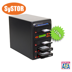 1 mit 3 SATA Festplatten Laufwerk Kopiersystem / Sanitizer
